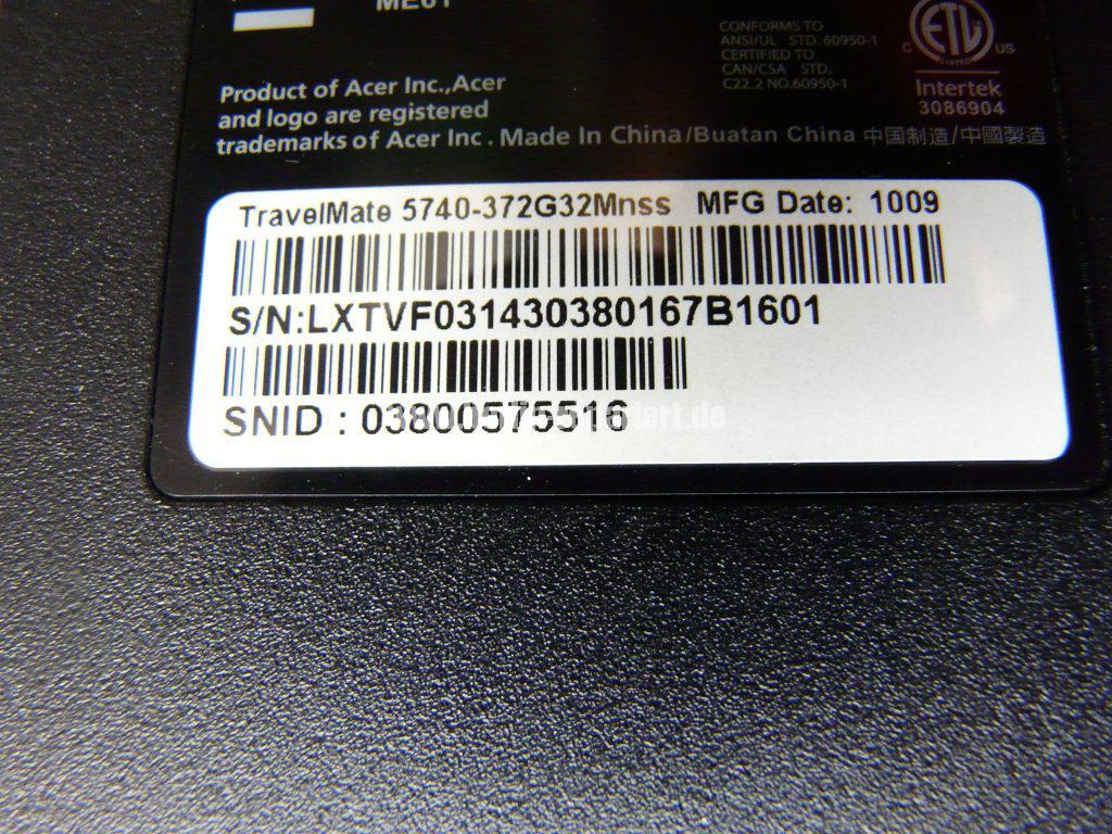 Acer TravelMate 5740, kein Bild über den VGA Anschluss (12)