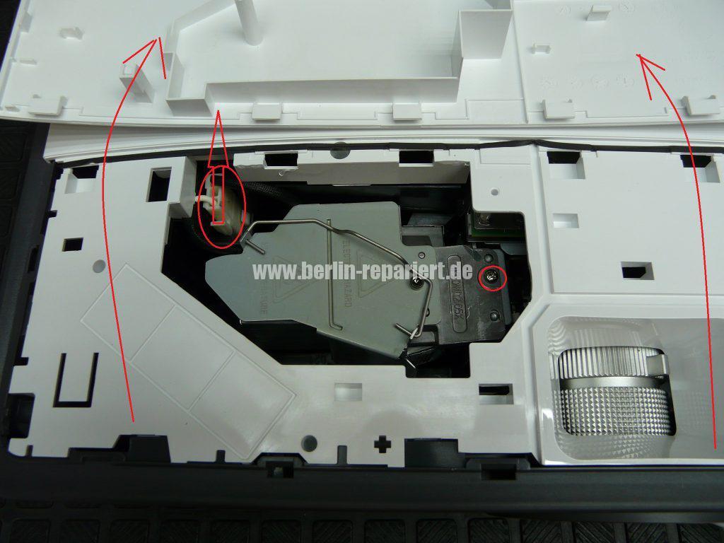 Benq W750, Lampe defekt, Lampe austauschen (4)