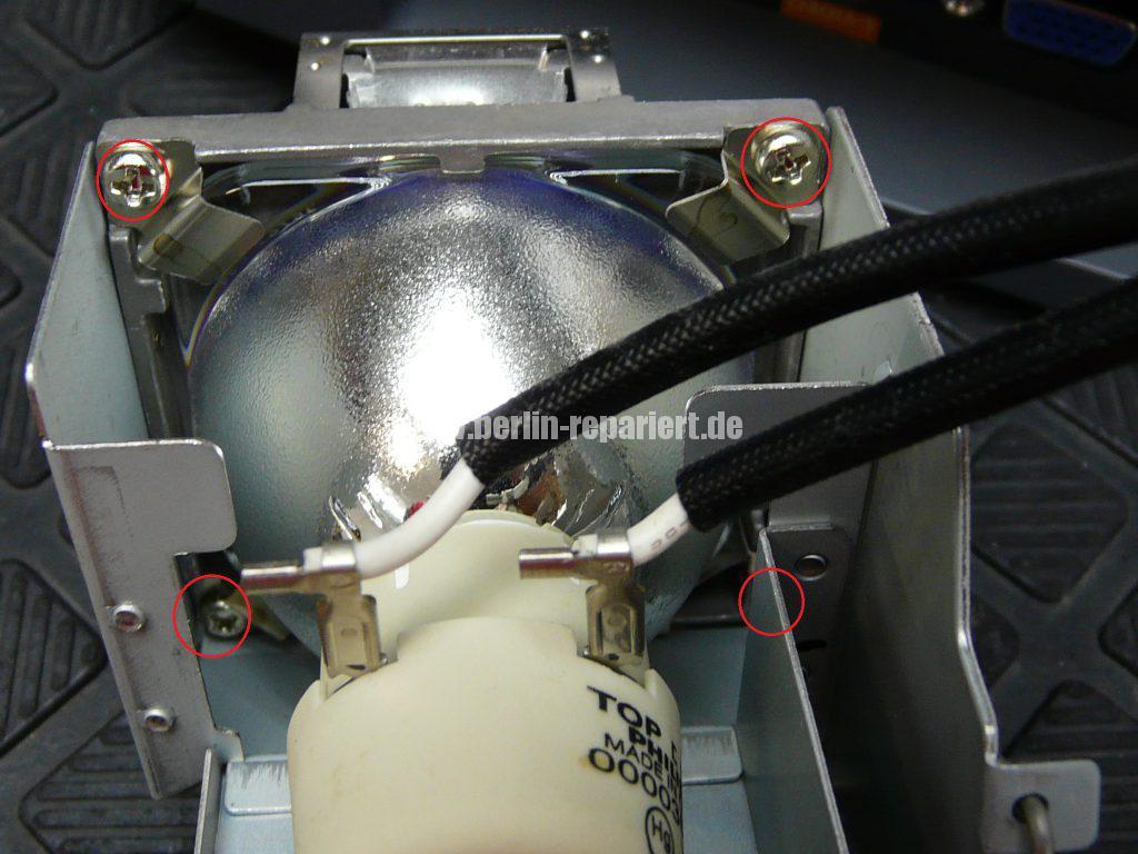 Benq W750, Lampe defekt, Lampe austauschen (6)