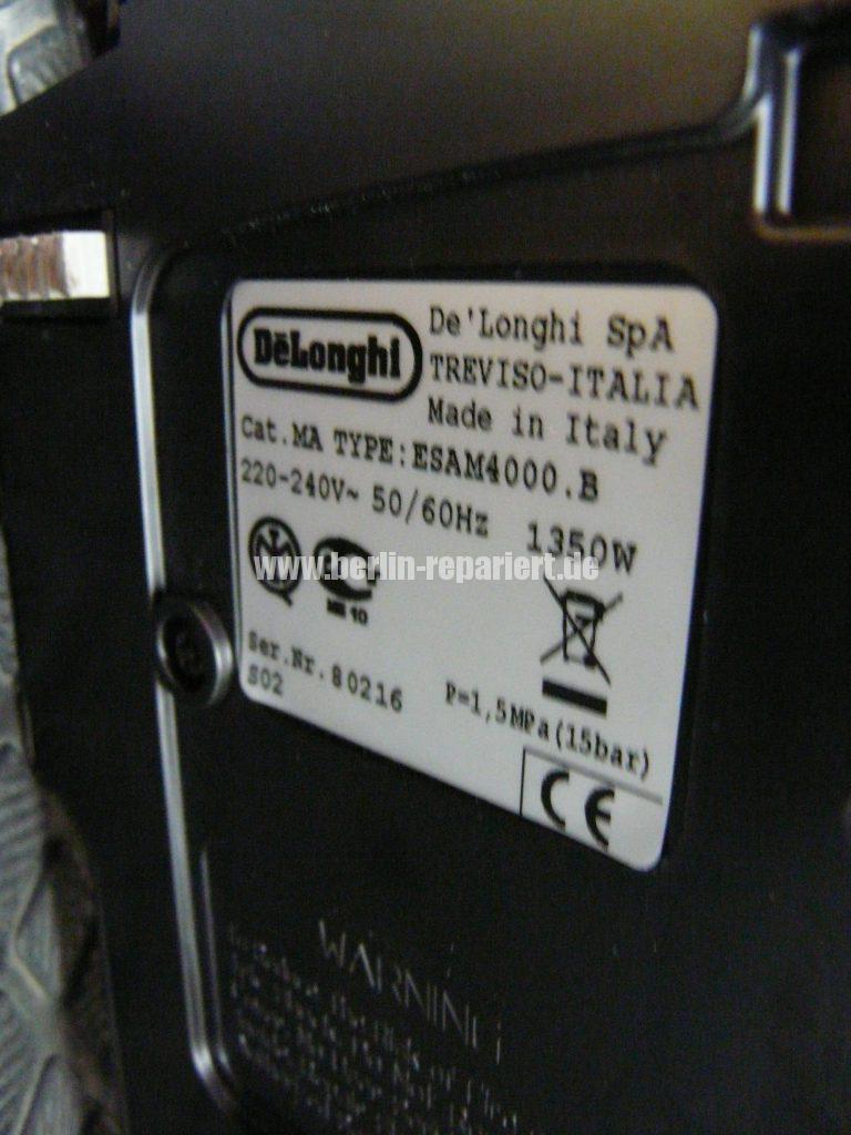 DeLonghi ESAM 4000.B, keine Funktion (5)