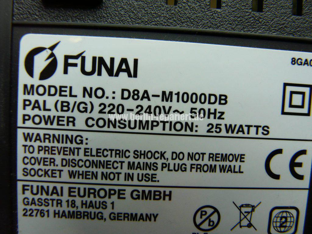 Funai D8A-M1000, macht Bandsalat (8)