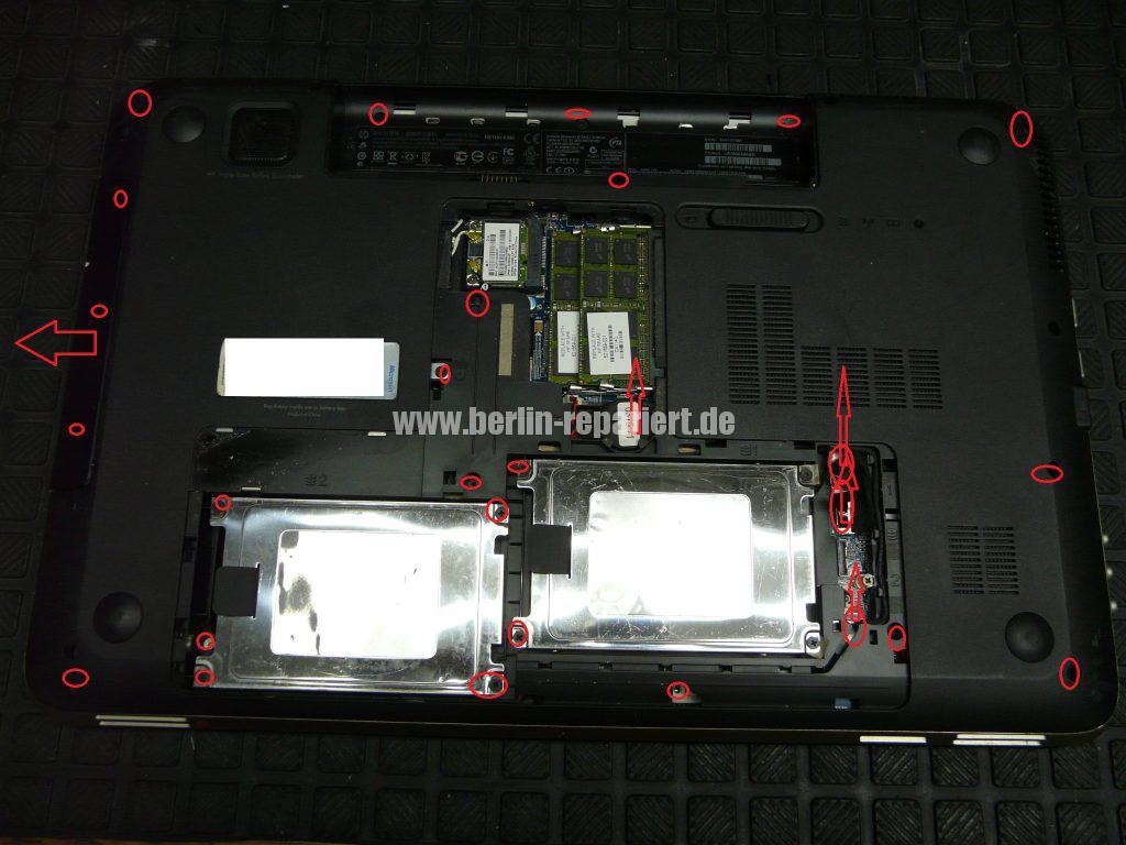 HP dv7-6032, Lüfter defekt, Lüfter austauschen (2)