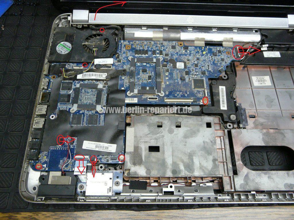 HP dv7-6032, Lüfter defekt, Lüfter austauschen (4)