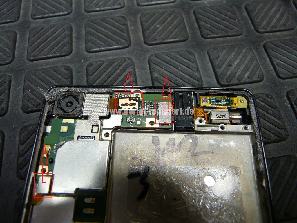 Huawei Ascendent P7, Display tauschen, zerlegen (7)