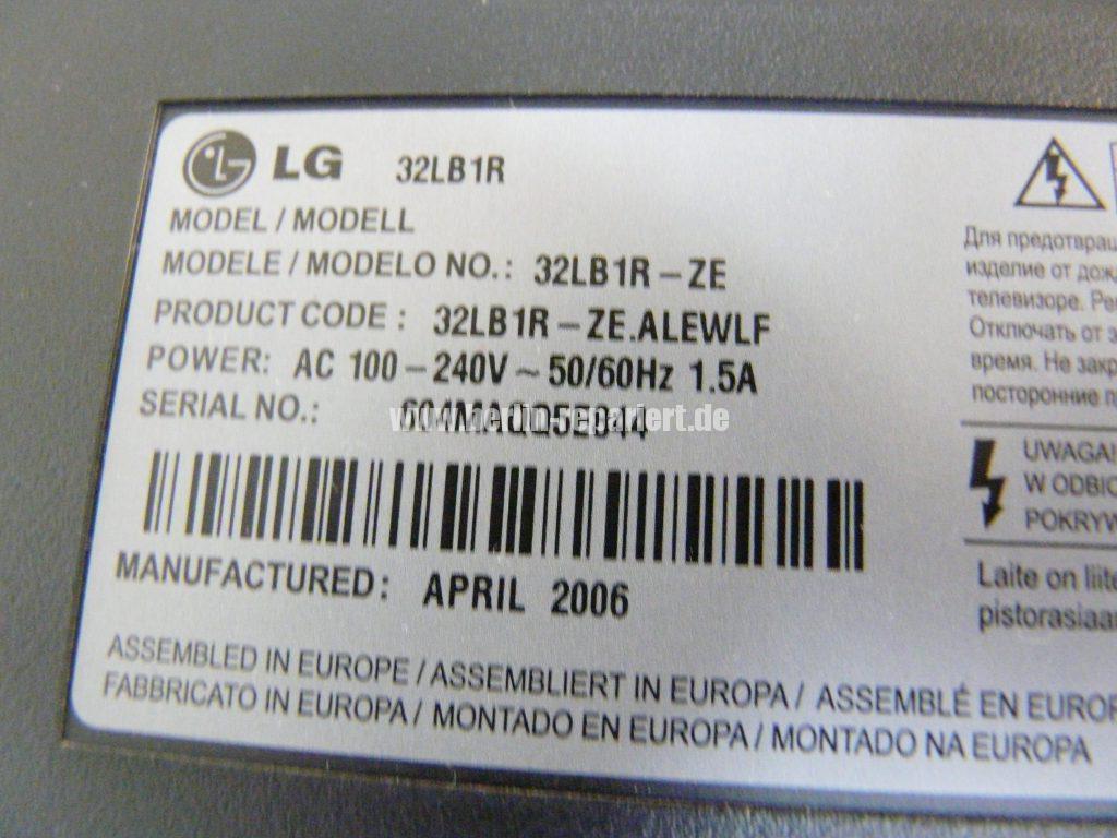 LG 32LB1R, keine Funktion, FI Schalter fliegt raus (1)
