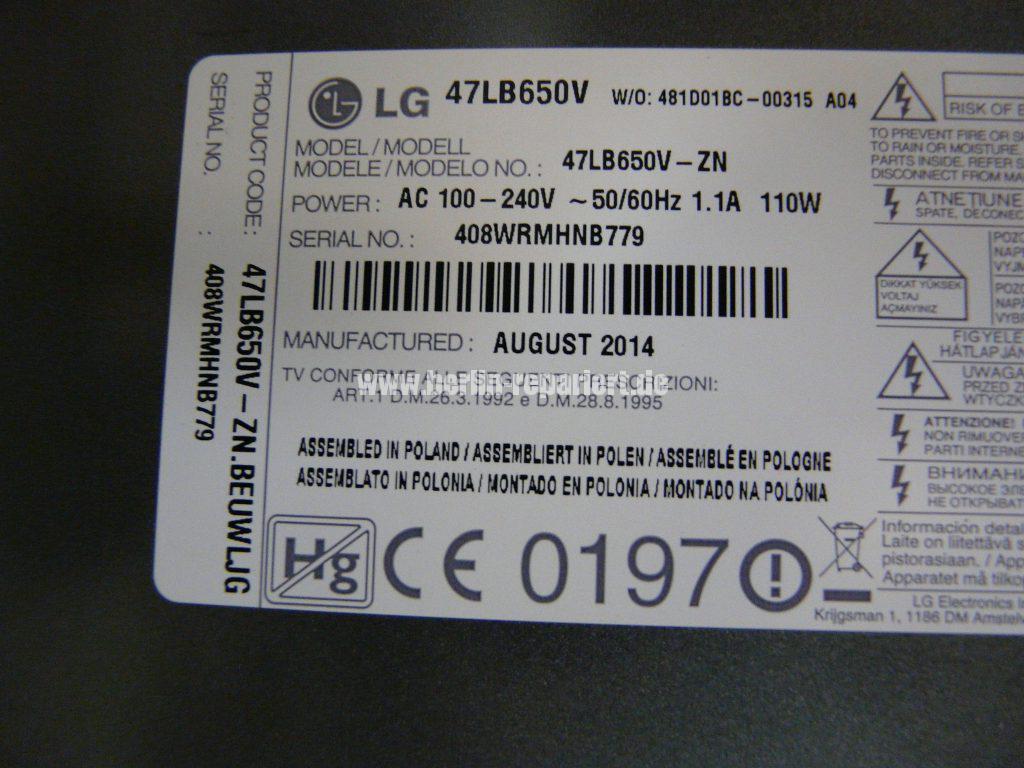 LG 47LB650V, Bild Blitzt, wird hell und dunkel (6)