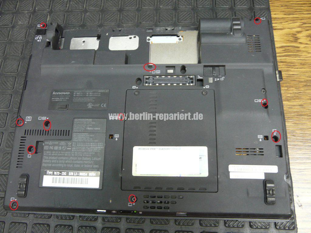 Lenovo X61, Lüfter austauschen (2)