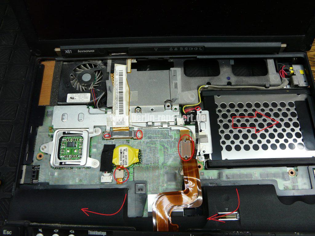 Lenovo X61, Lüfter austauschen (4)