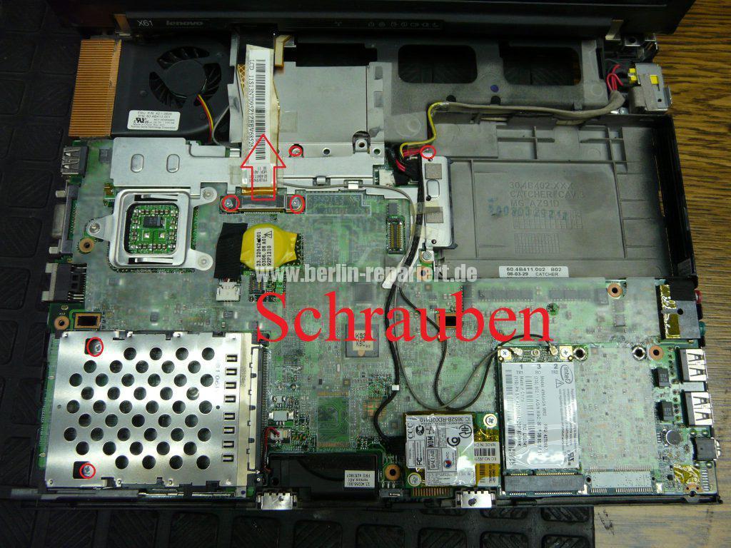 Lenovo X61, Lüfter austauschen (7)