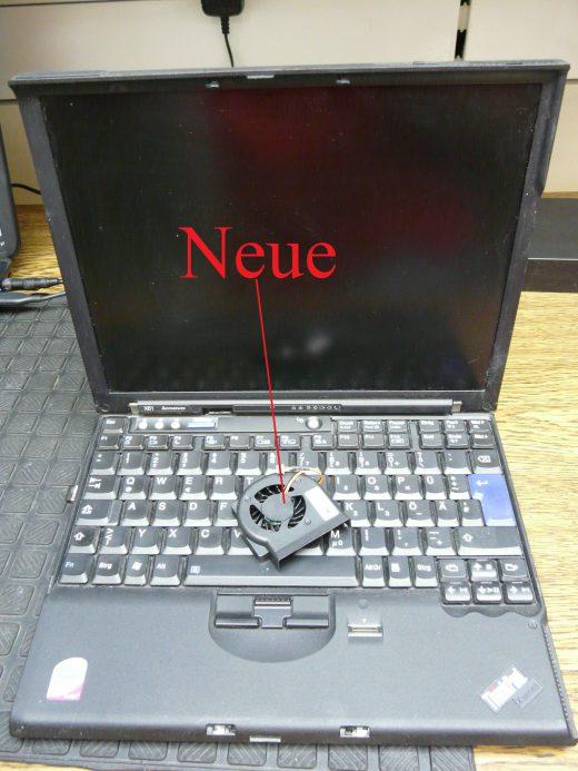 Lenovo X61, Lüfter austauschen (1)