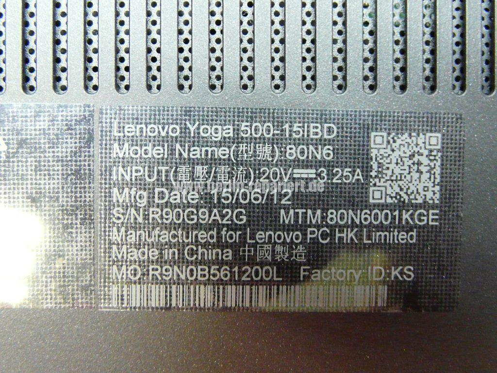 Lenovo Yoga 500, Display Glass Digitizer geplatzt (11)