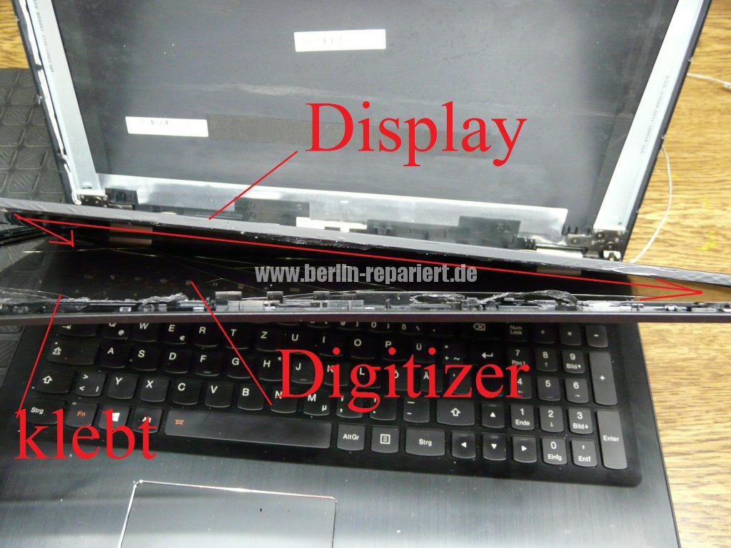 Lenovo Yoga 500, Display Glass Digitizer geplatzt (3)