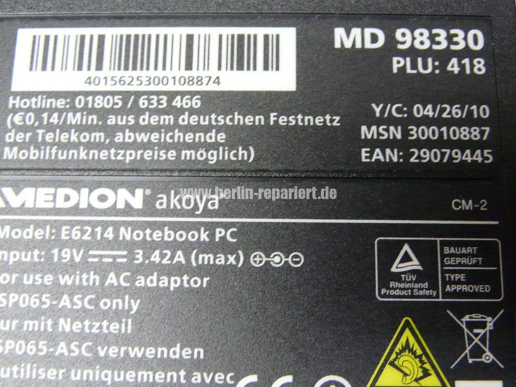Medion Akoya MD 98330, geht nicht an (5)