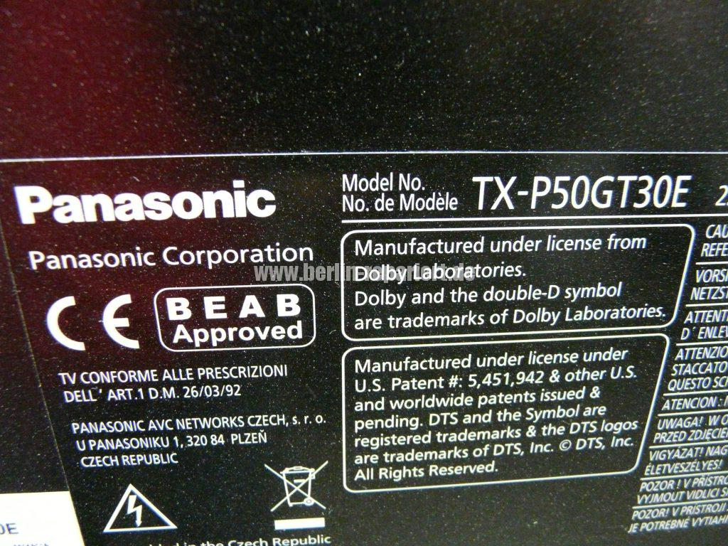 Panasonic TX-P50GT3E, keine Funktion, Stby LED blinkt (7)