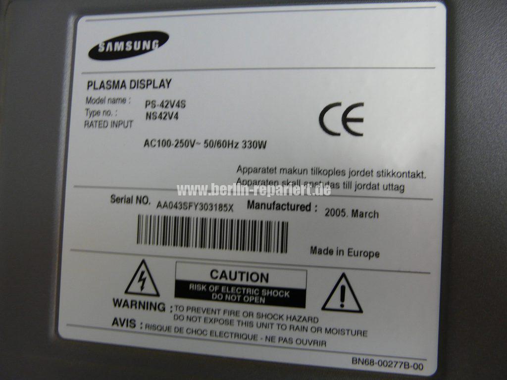 Samsung PS42V4S, kein Bild (5)