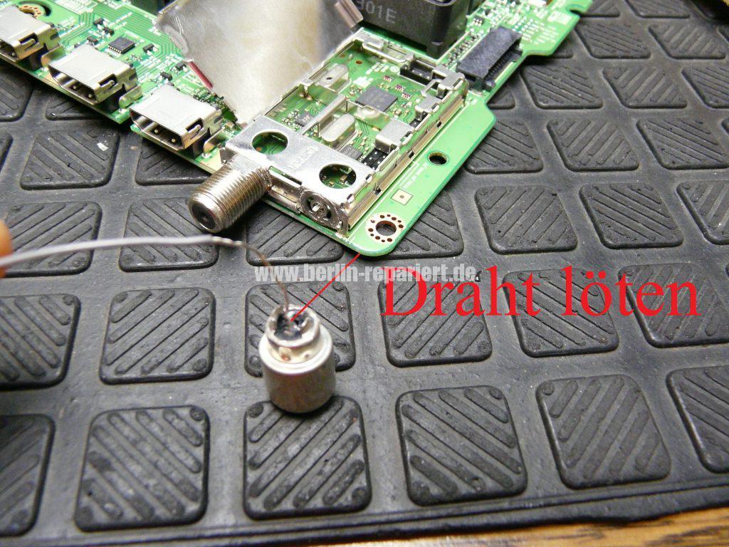 Samsung UE32F670, Tunerbuchse einlöten (6)