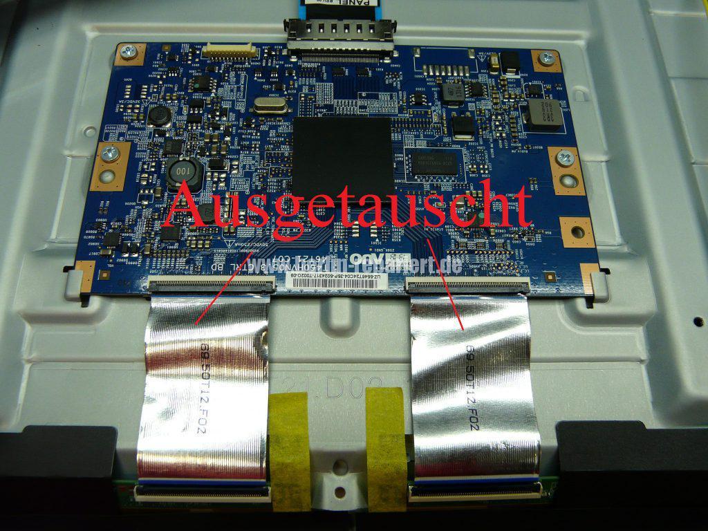 Samsung UE46F6500, Linke Bildhälfte nur bunte Streifen (10)
