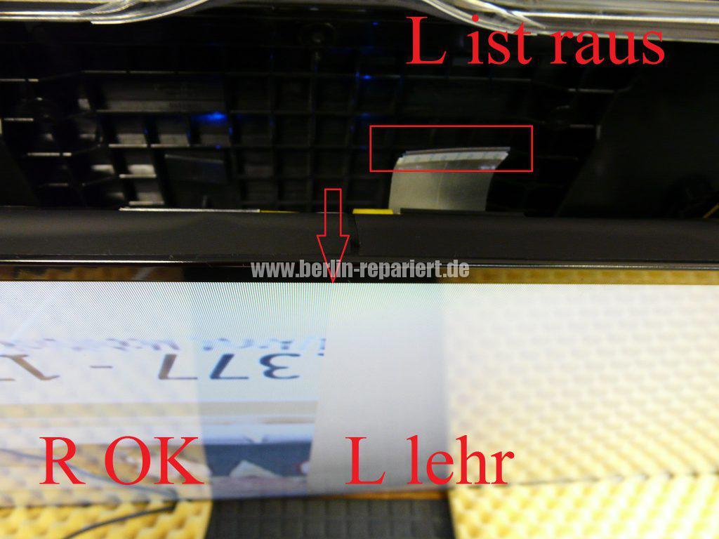 Samsung UE46F6500, Linke Bildhälfte nur bunte Streifen (13)