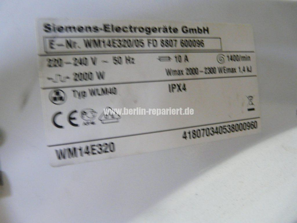 Siemens WM14E320, Wasser kocht (5)