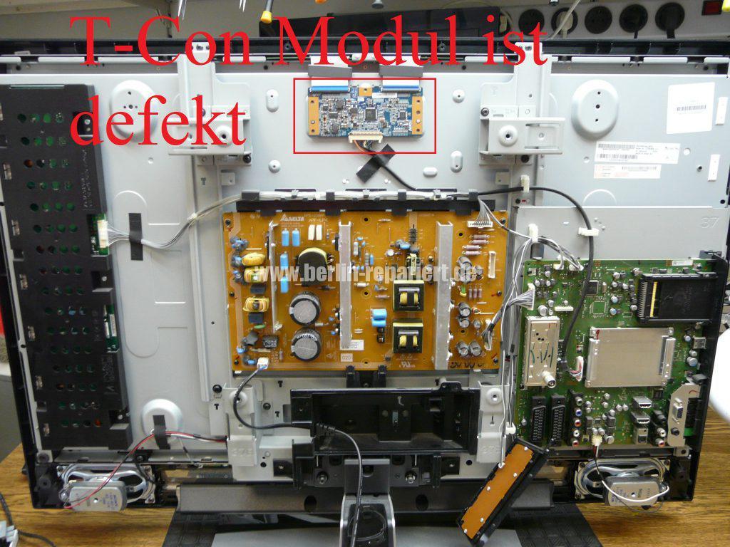 Sony KDL-37V4500 E, Bild Solarisiert, falsche Farben (1)