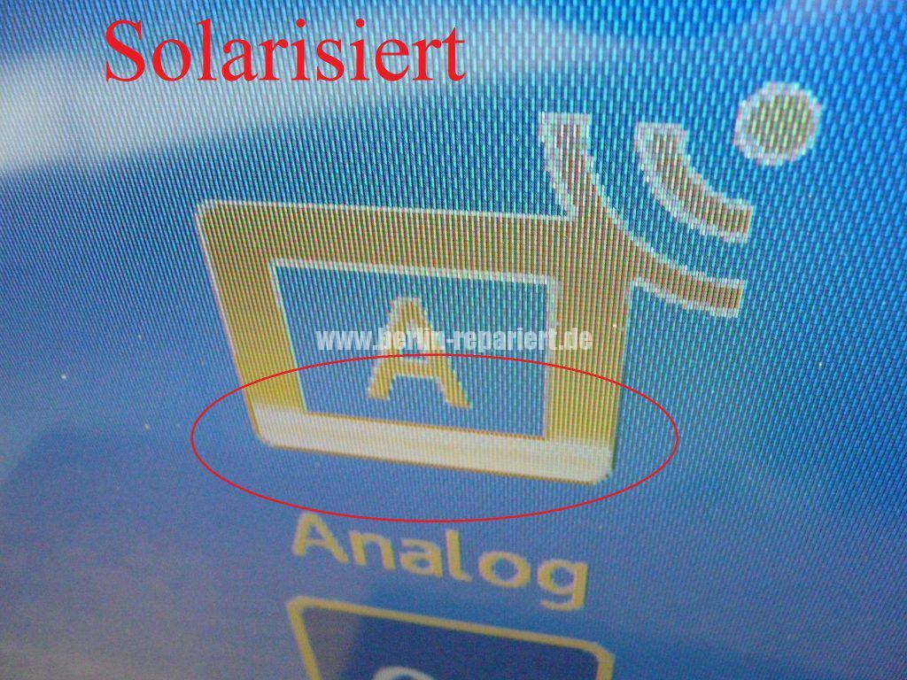 Sony KDL-37V4500 E, Bild Solarisiert, falsche Farben (3)