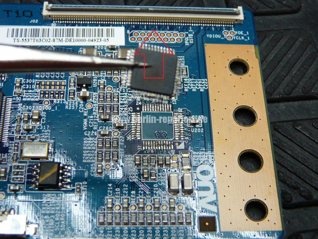 Sony KDL-37V4500 E, Bild Solarisiert, falsche Farben (6)