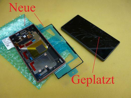 Sony Xperia Z5 Compact E5803, Display defekt, Display austauschen (1)