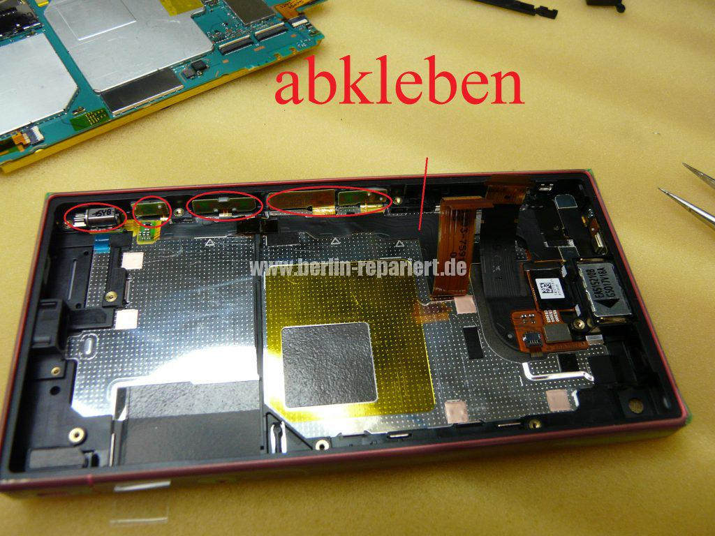 Sony Xperia Z5 Compact E5803, Display defekt, Display austauschen (13)