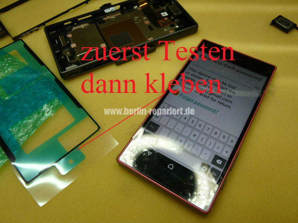 Sony Xperia Z5 Compact E5803, Display defekt, Display austauschen (14)