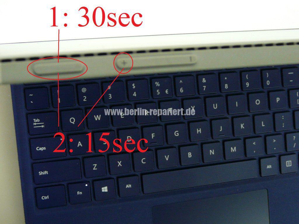 Windows Surface 3 Pro, geht nicht an (2)