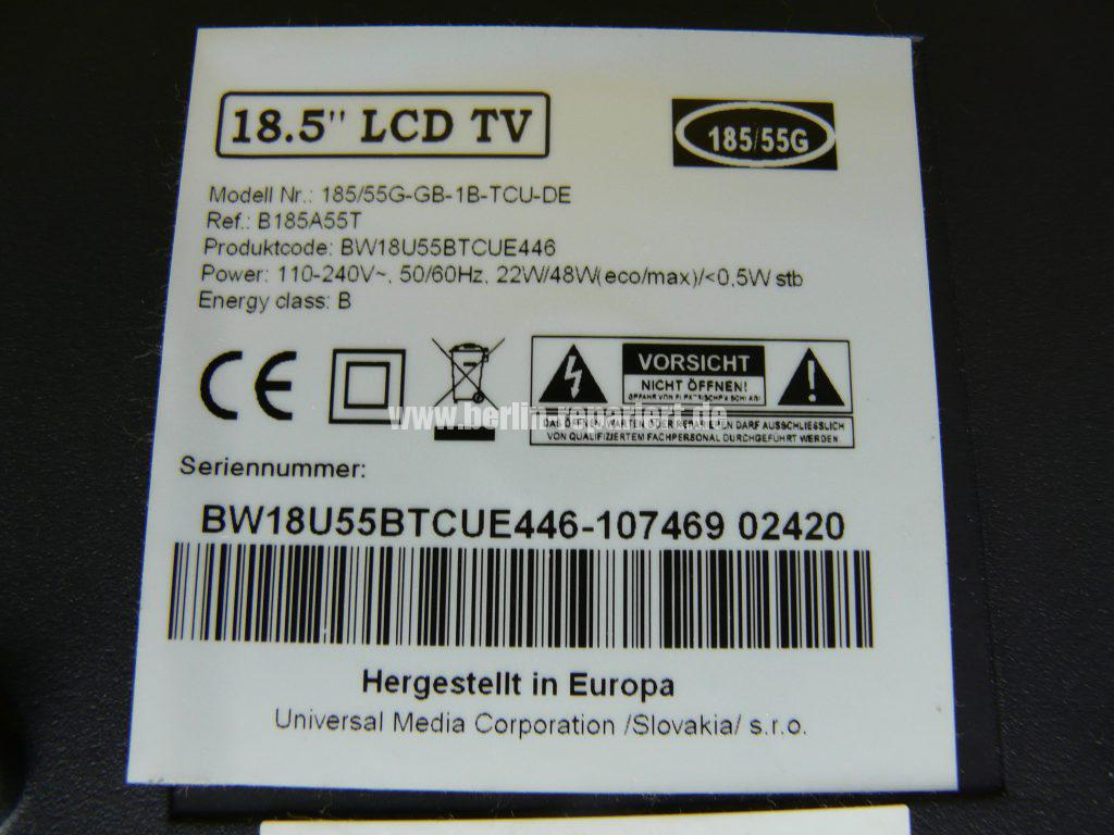 Blaupunkt 18,5 LCD TV, keine Funktion (6)