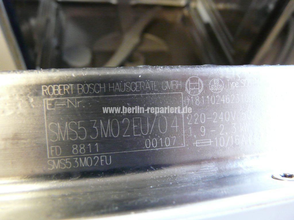 Bosch SMS53M02EU, Verliert Wasser (2)