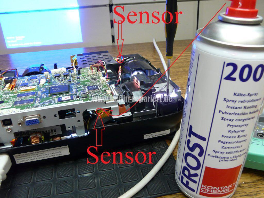 Epson Eb X72 Temp Led Blinkt Nach Dem Lampenaustausch