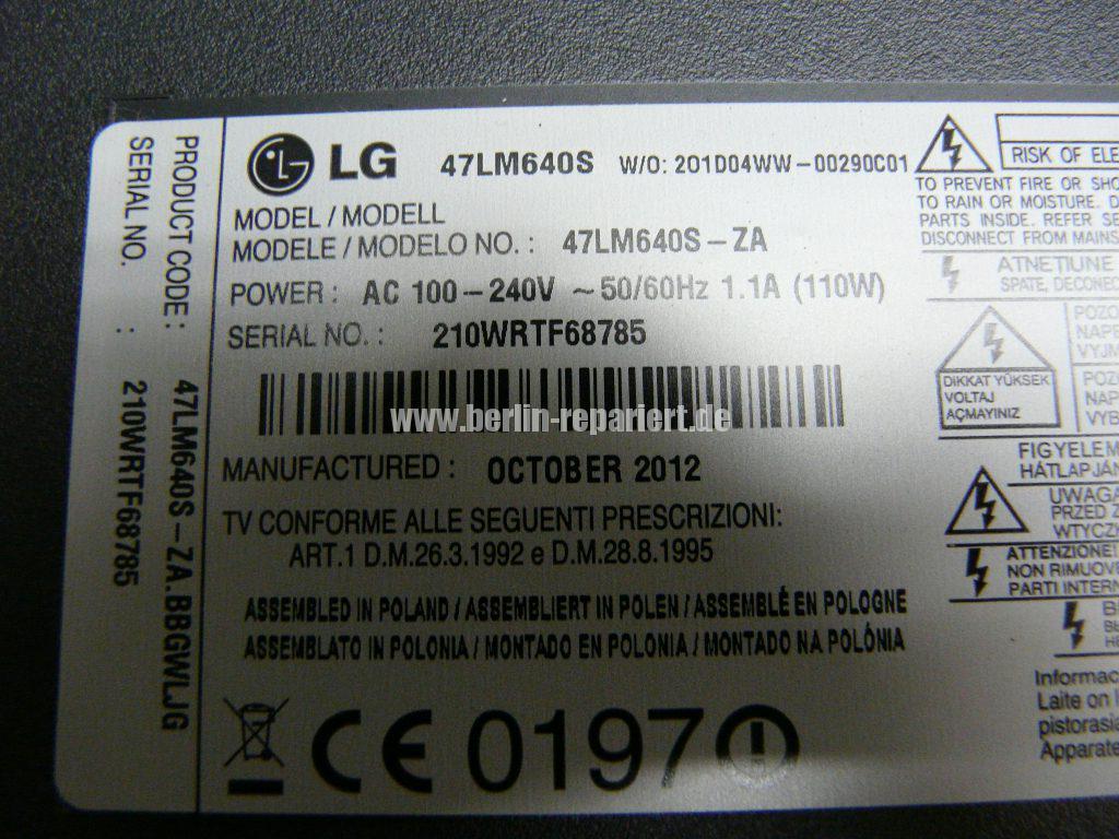 LG 47LM640S, nur noch LG Logo sichtbar (4)