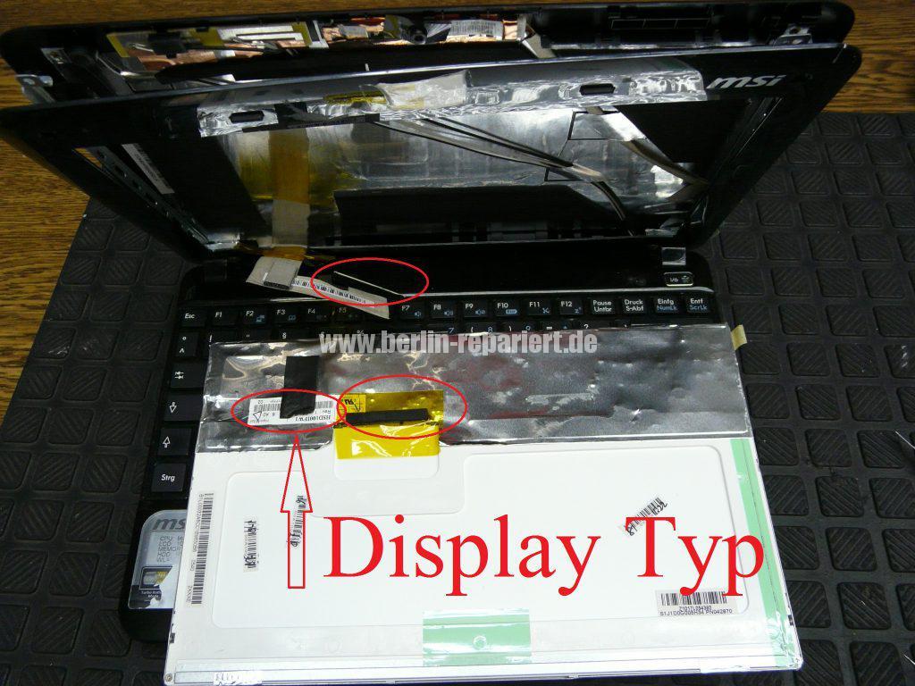 MSI U135, Display geplatzt (4)
