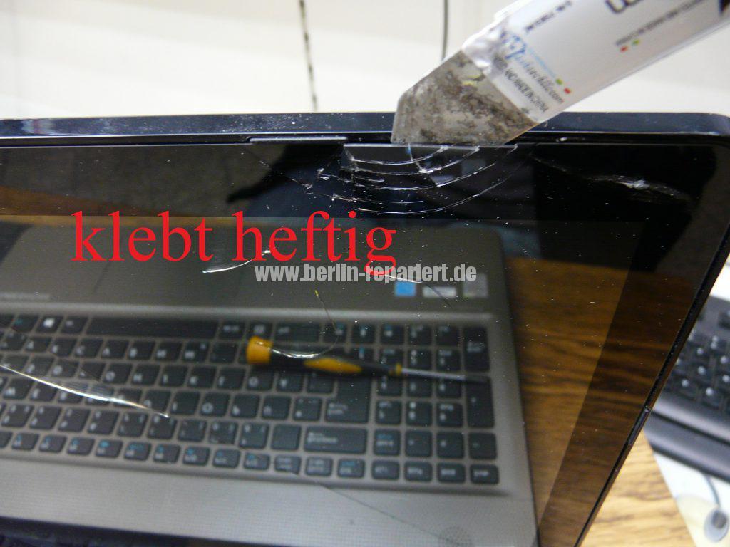 Medion Akoya E6412T, Digitizer geplatzt, Digitizer ausbauen (5)