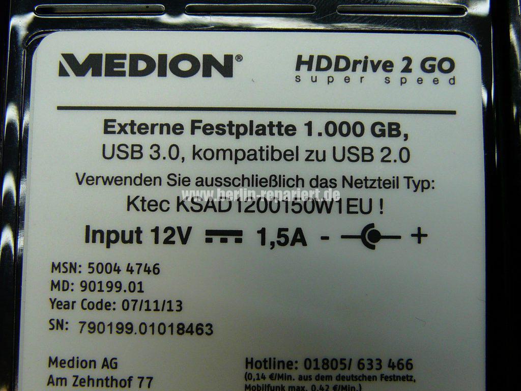 Medion HDDrive 2 Go MD 90199.01, keine Funktion (8)