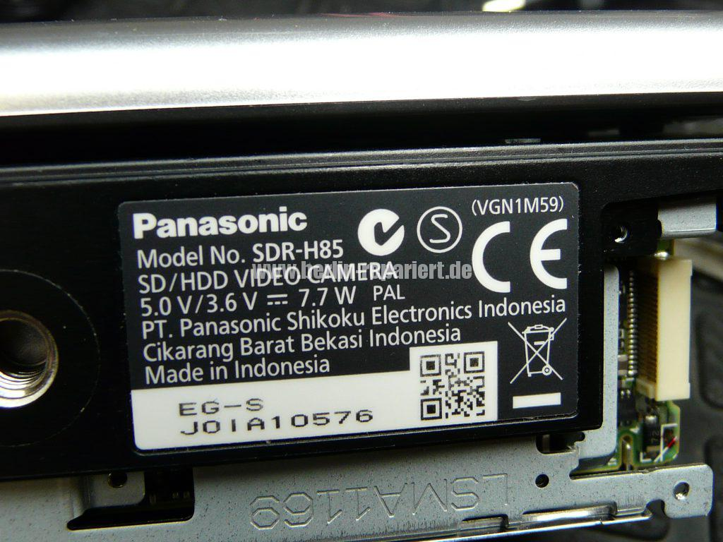 Panasonic SDR-H85, kein Displayanzeige (8)