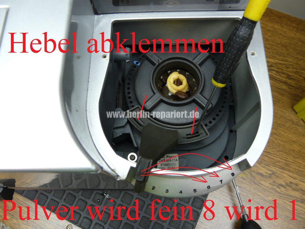 saeco-roal-cappuccino-mahlwerk-falsch-justiert-mahlwerk-einstellen-5
