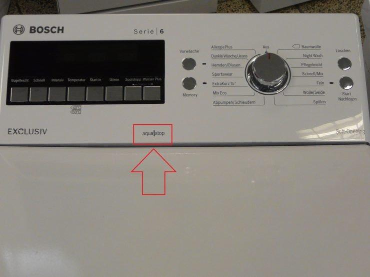 aquastop bauknecht waschmaschine aquastop wasserstop. Black Bedroom Furniture Sets. Home Design Ideas