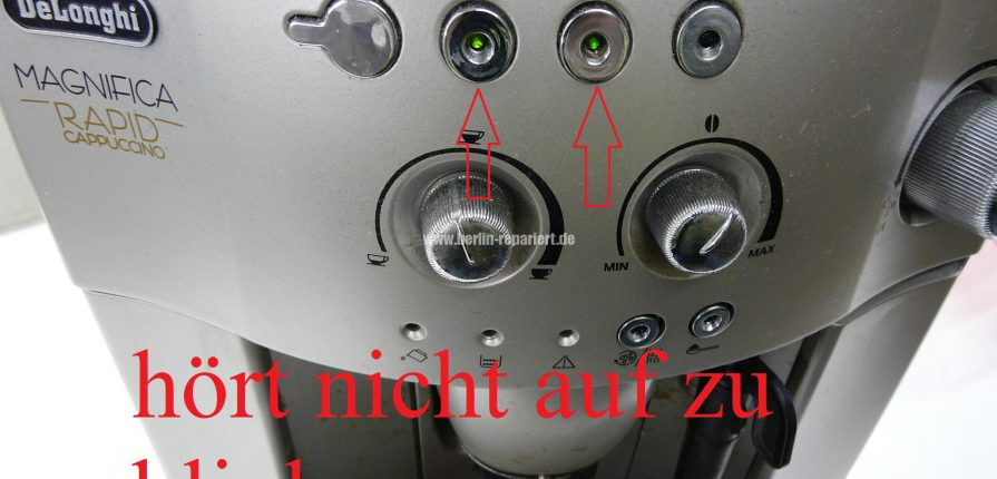 delonghi esam4300 die leds der tassen h ren nicht auf zu blinken heizt nicht leon s blog. Black Bedroom Furniture Sets. Home Design Ideas