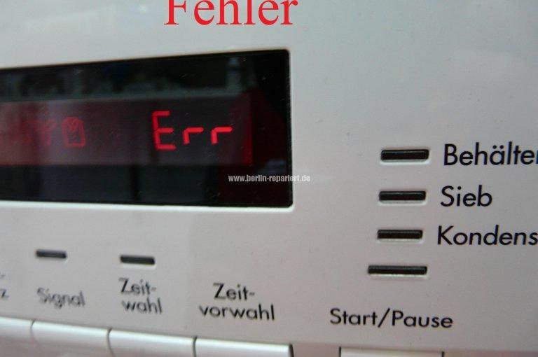 Aeg Kühlschrank Fehler : Aeg t ah programm startet nicht err in display error