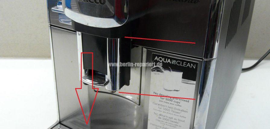 saeco incanto hd8917 kaffeeauslauf trichter h lt nicht mehr we repair wir reparieren. Black Bedroom Furniture Sets. Home Design Ideas