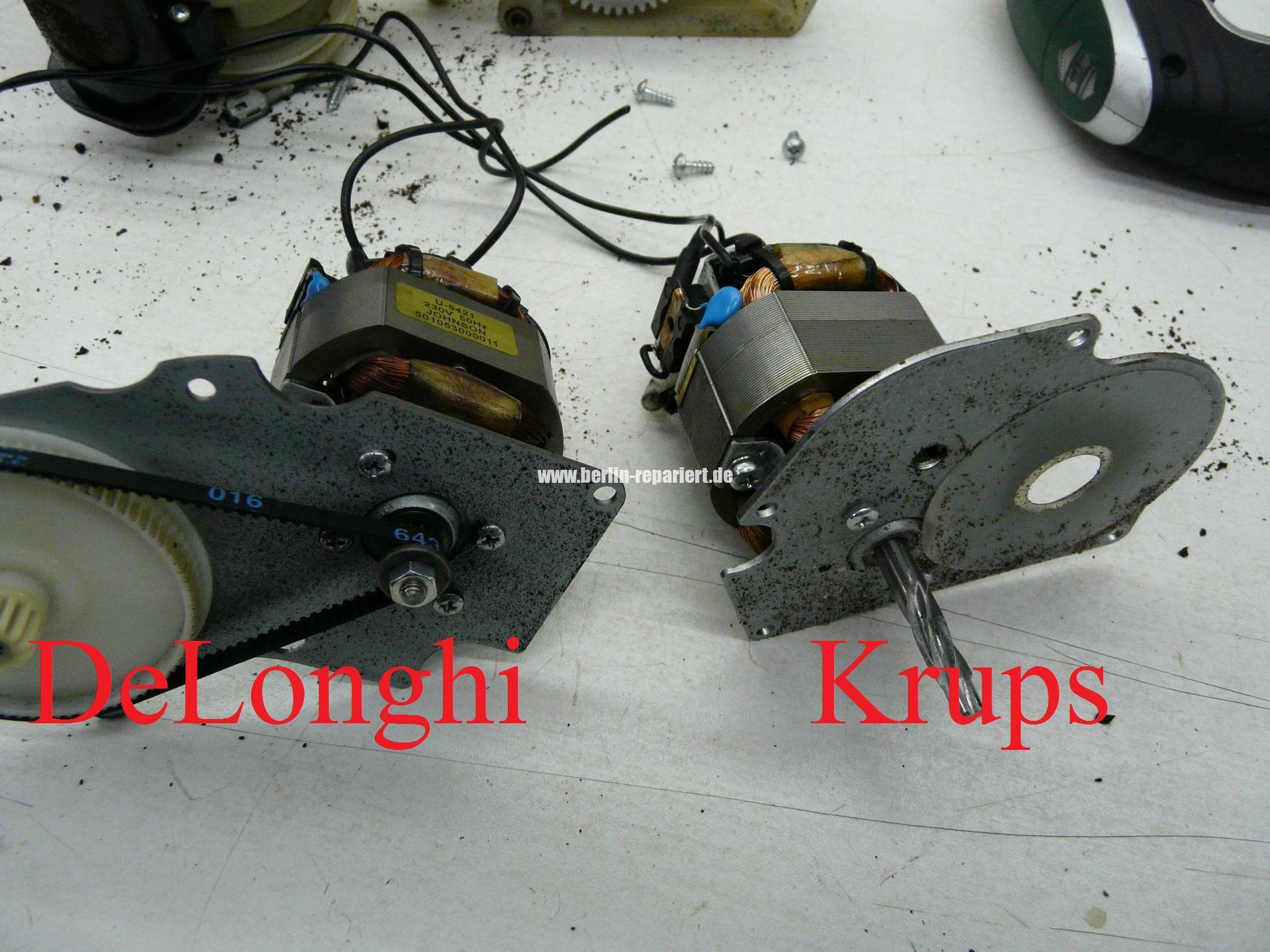 krups xp mahlwerk motor defekt mit delonghi repariert leon s blog. Black Bedroom Furniture Sets. Home Design Ideas