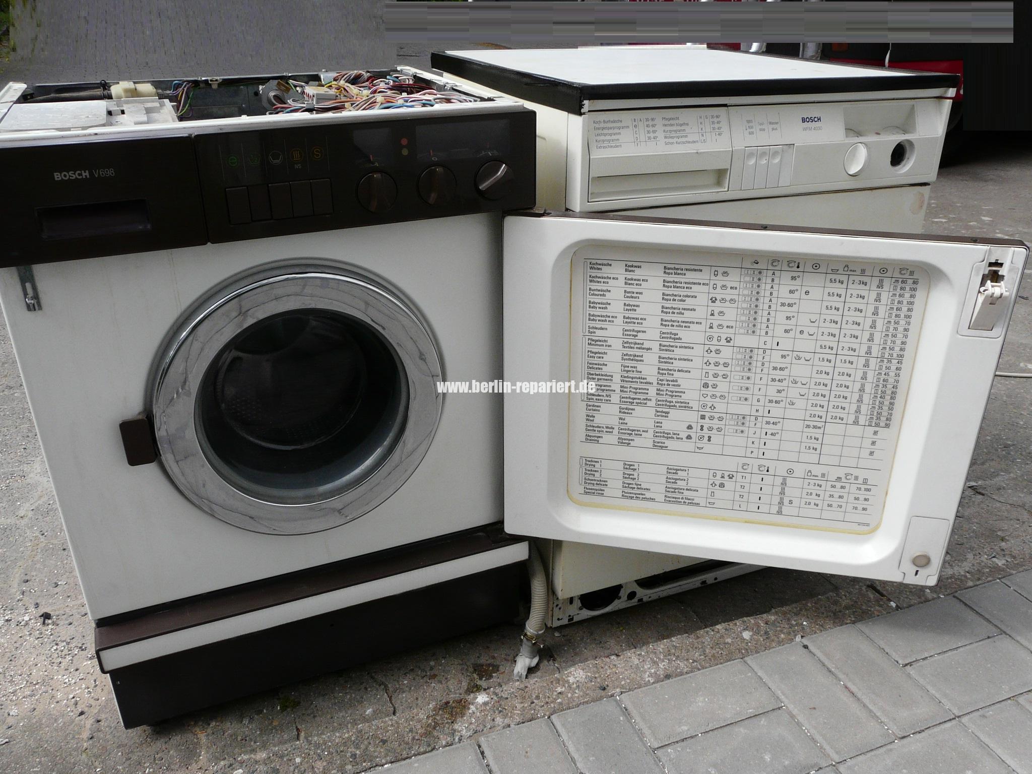 Bosch v 698 wasch trockner wmv6980 02 und die technik von damals