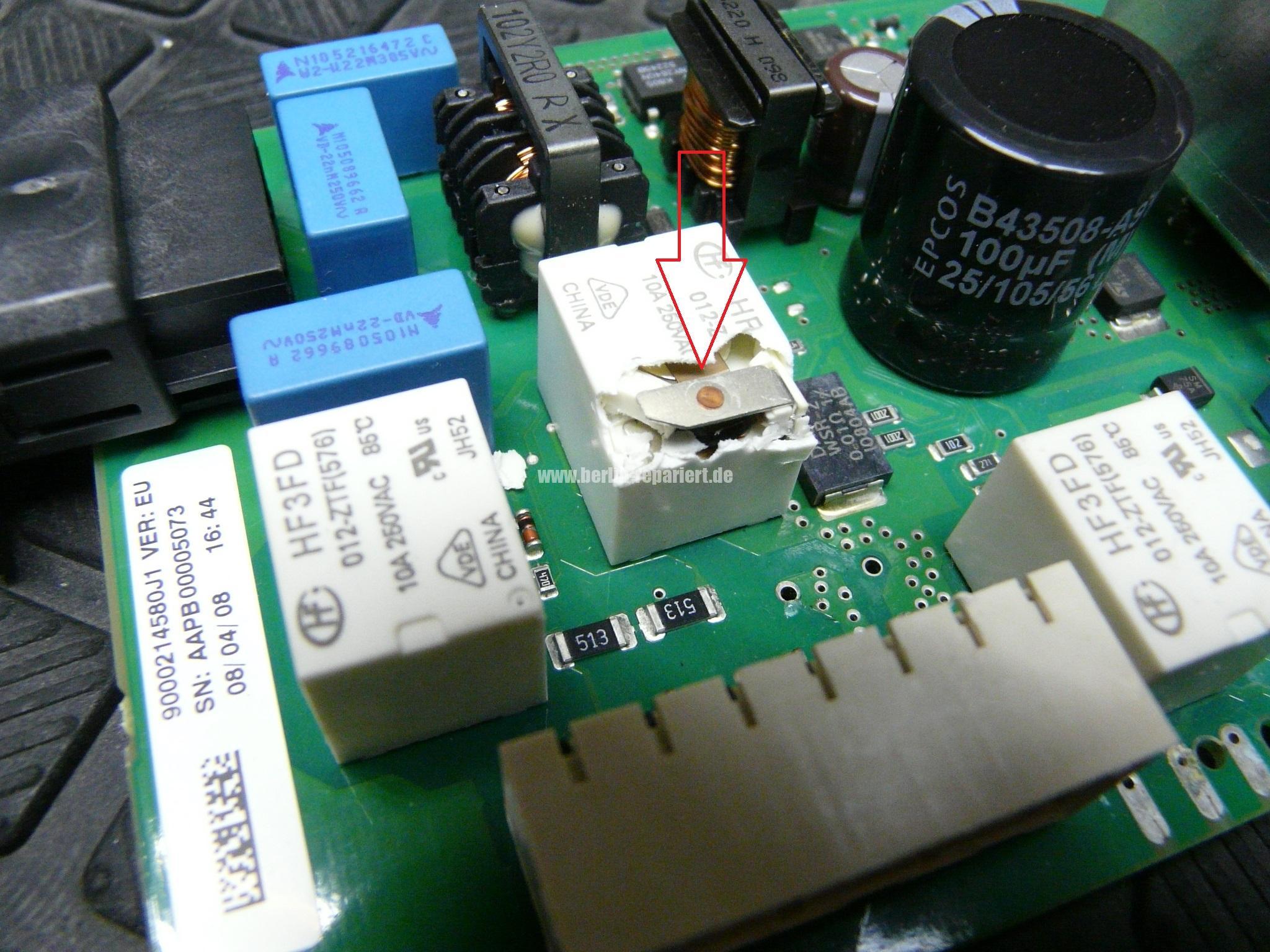 Hervorragend Bosch Siemens Geschirrspüler heizt nicht richtige Relais einlöten NC05