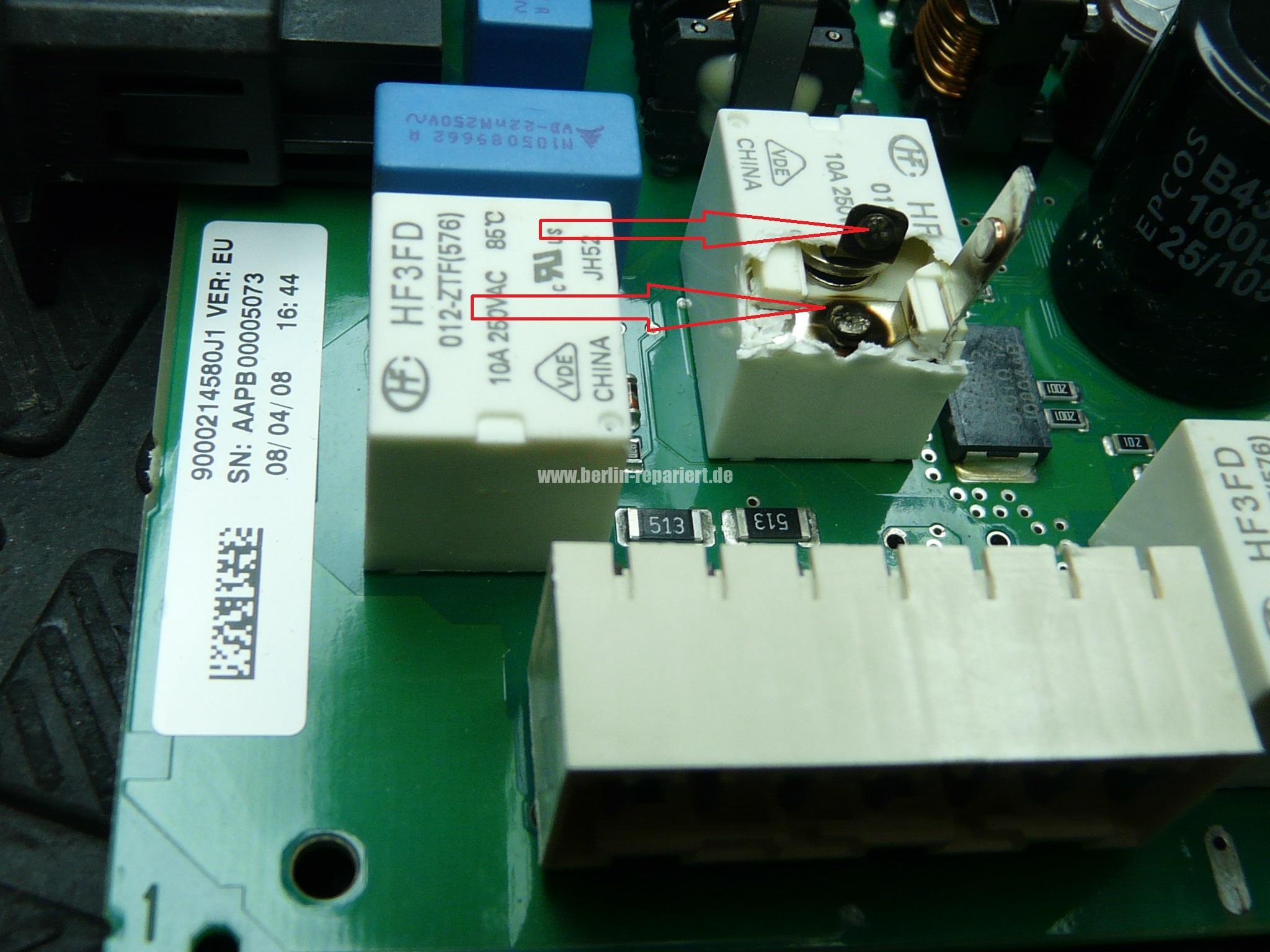 Gut bekannt Bosch Siemens Geschirrspüler heizt nicht richtige Relais einlöten UD85