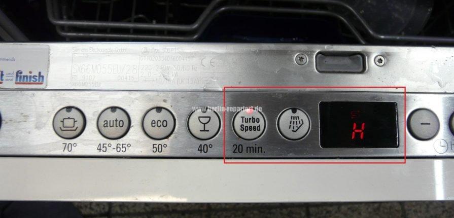 """Gut gemocht Siemens Geschirrspüler """"Fehlermeldung / Fehlercode H"""" bei der YL69"""