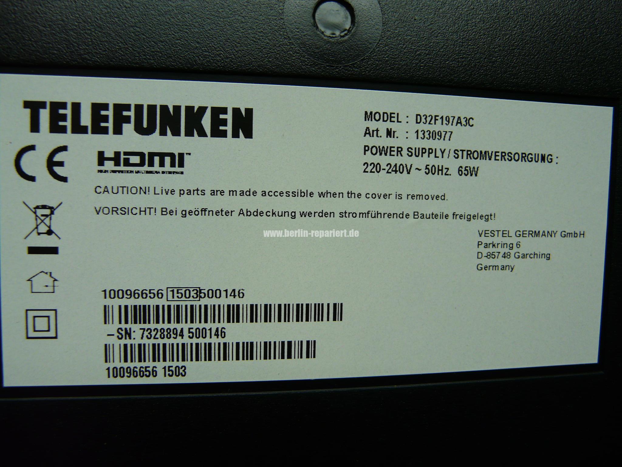 Telefunken Fernseher Vestel : Telefunken kein bild nur ton d32f197a3c hintergrundbeleuchtung