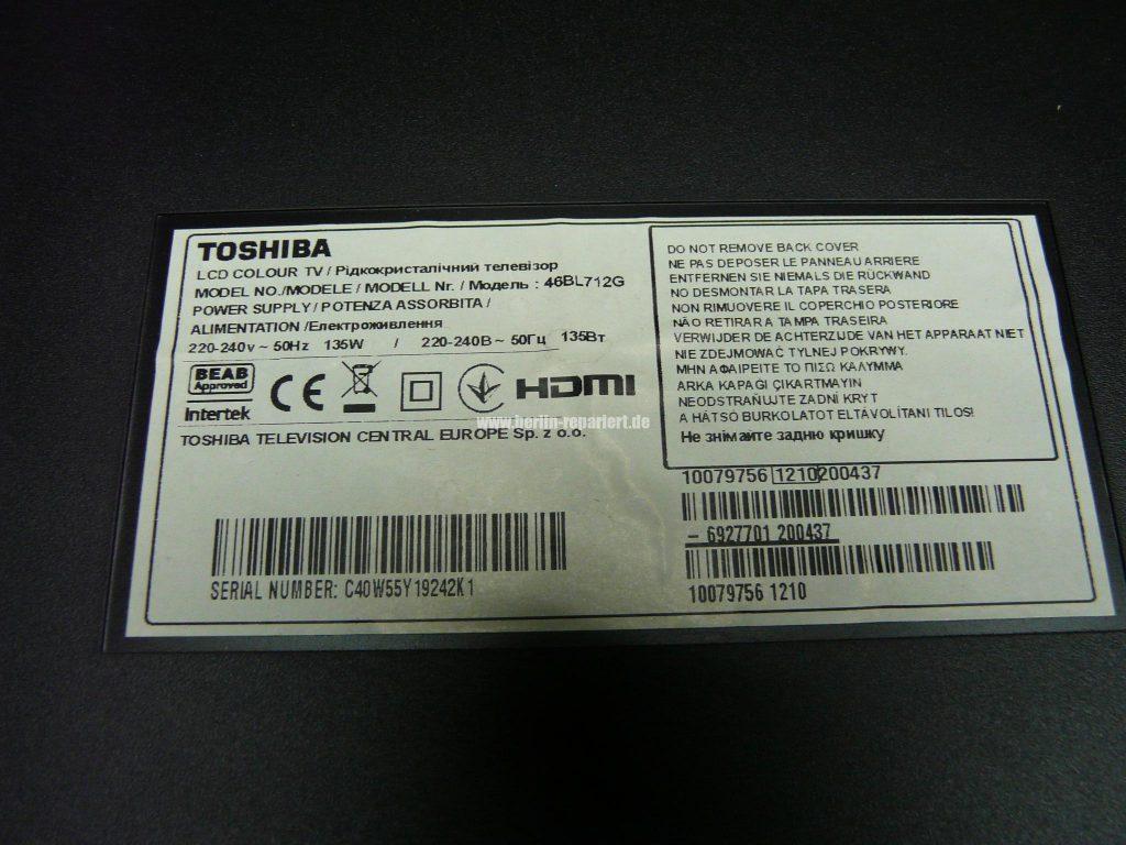 toshiba 46bl712g stby led blinkt keine weiteren funktionen. Black Bedroom Furniture Sets. Home Design Ideas